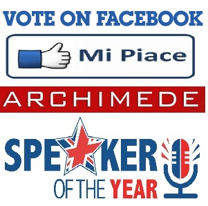 vote on facebook mi piace archimede speaker of the year