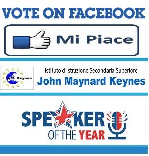 vote on facebook mi piace keynes speaker of the year