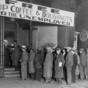 Men Waiting Outside Al Capone Soup Kitchen